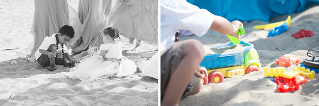 beach wedding ideas with sand toys