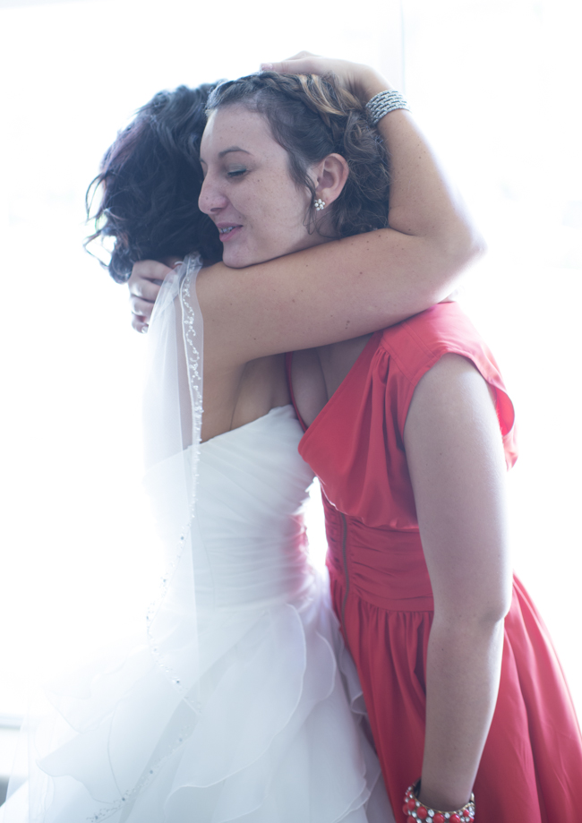 bride with maid of honor
